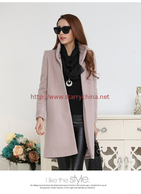 China fashion high collar ladies elegant pure cashmere coat distributor