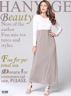 solid color joint lantern skirt new style chiffon long sleeve long dress with V backless